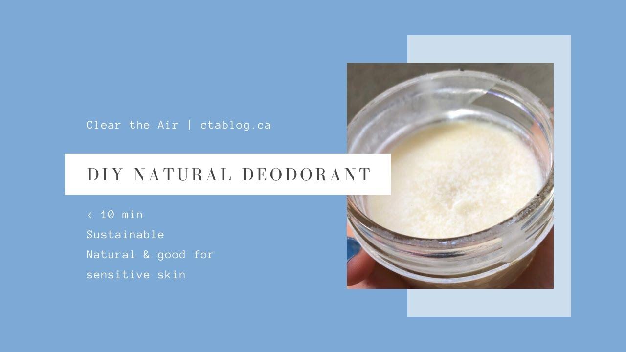 Sustainable DIY Natural Deodorant for sensitive skin