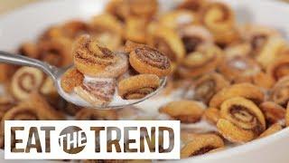 Mini Cinnamon Roll Cereal | Eat the Trend