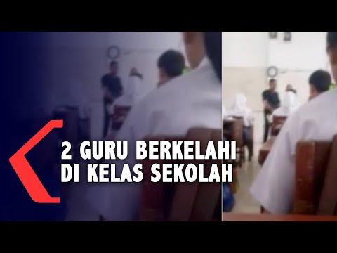 Video: Dua guru baku hantam depan kelas, murid otomatis histeris!