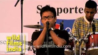 Band from Tripura performs at North East Festival
