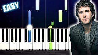Josh Groban - You Raise Me Up - EASY Piano Tutorial by PlutaX