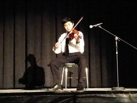 """Perfect"" (Ed Sheeran): violin by Jake at Jack London Middle School Variety Show, January 2019"