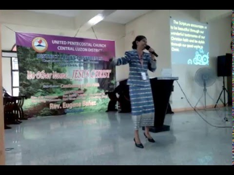 Modesty: A Revelation Of Dignity ( Lecture By: CLD LA  President Ptra. Siony M. Icang )