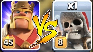KING vs. GIANT SKELETON | Clash of clans | WHO WILL WIN!?!