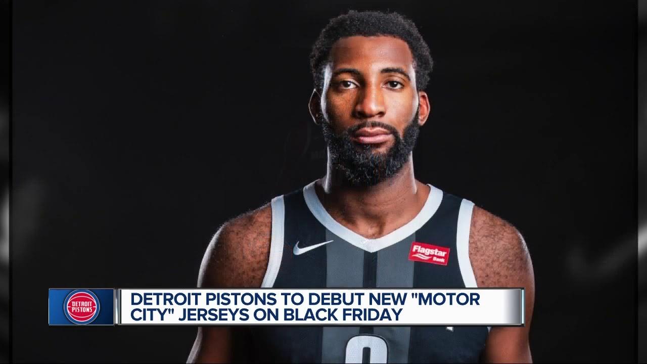 meet d4256 f5030 Detroit Pistons unveil new 'Motor City' uniforms