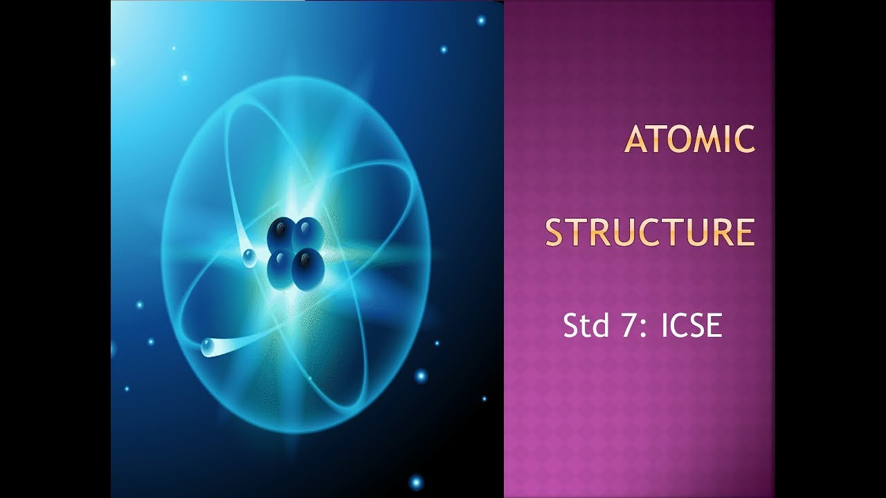 medium resolution of Atomic Structure. ICSE grade 7 - YouTube