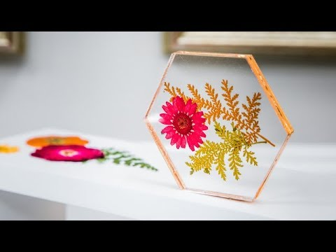 DIY Pressed Flower Coasters - Home & Family - YouTube
