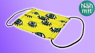 Mundschutz nähen Teil 2: Schutzmaske für Kinder und Erwachsene   gratis Schnittmuster   Näh mit mir!