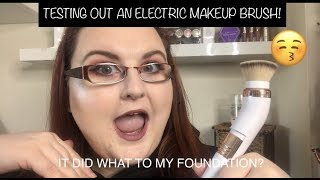 TESTING OUT AN ELECTRIC MAKEUP BRUSH | IT DID WHAT TO MY FOUNDATION? | Katarina Cooper
