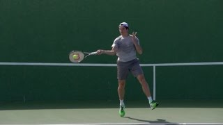 Milos Raonic Forehand and Backhand In Super Slow Motion - Indian Wells 2013 - BNP Paribas Open