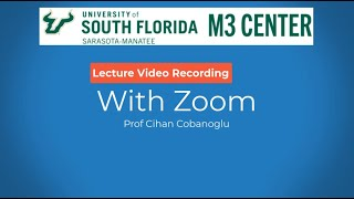 How to record a lecture video using Zoom