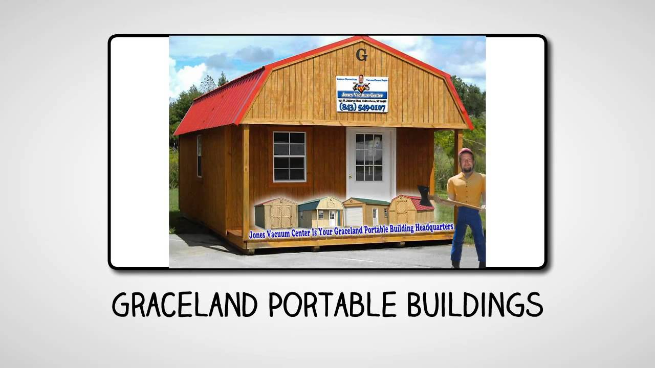 Portable Buildings Walterboro SC   Graceland Portable Buildings Jones  Vacuum Center