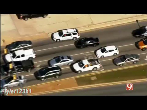 Oklahoma City police chase with Scanner Audio 4/21/16