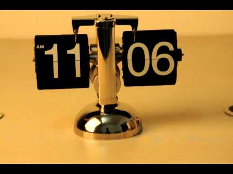 Retro Flip Down Clock - Gear Operated Time Machinery
