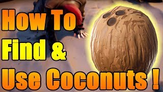 How To Find, Use & Help Allies With Coconuts In Fortnite STW | Coconuts give 136% Damage & Healing