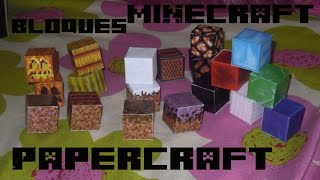 Unos poquitos bloques nuevos papercraft minecraft