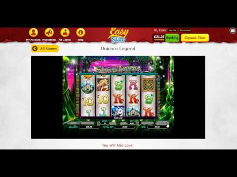 Unicorn Legend Slots Game - £10 - 500 Spins - Play Easy Slots