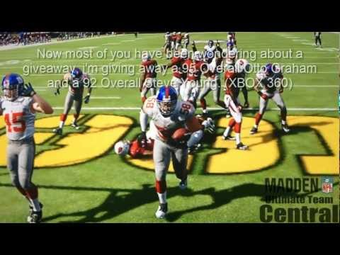 Madden 13 Ultimate Team Giveaway Otto Graham and Steve Young! Plus Unreal CPU Play!