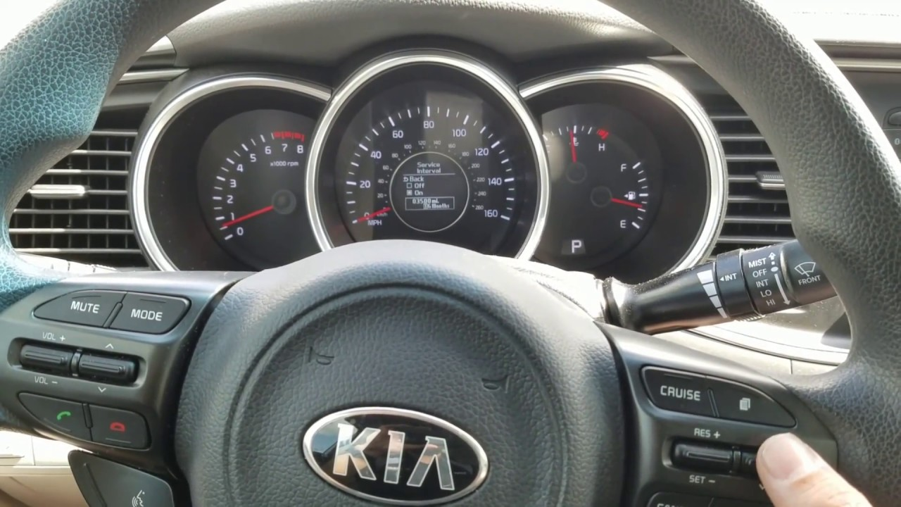 Kia Opima Service Required Reset Youtube