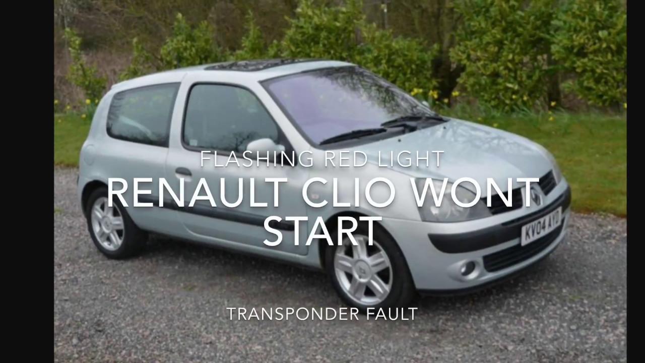 Renault clio immobiliser light flashing | Car info