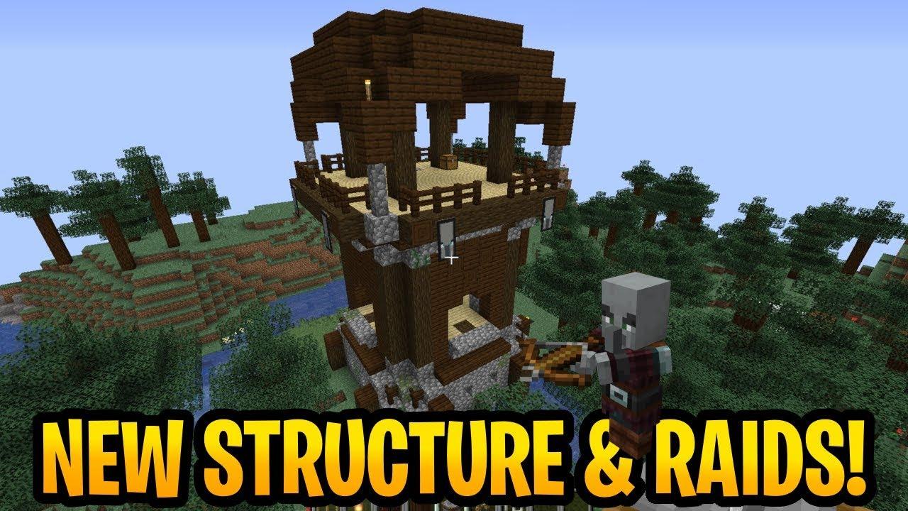 Minecraft 1 14 Illager Raids Pillager Outpost 18w47a Java Snapshot