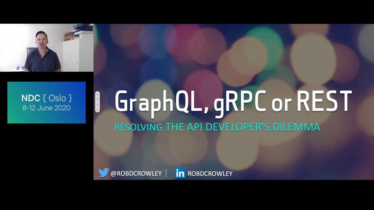 GraphQL, gRPC or REST? Resolving the API Developer's Dilemma