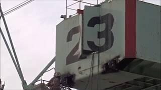 解体中のクレーン 平成29年11月17日