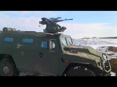 Russia MOD - Special Forces Tiger 4X4 Armoured Vehicle Remote Weapon Station Live Firing [720p]