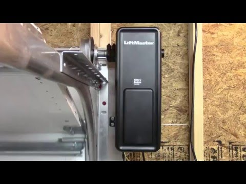 side mount garage door openerLiftMaster 8500 Residential JackShaft Garage Door Opener  YouTube