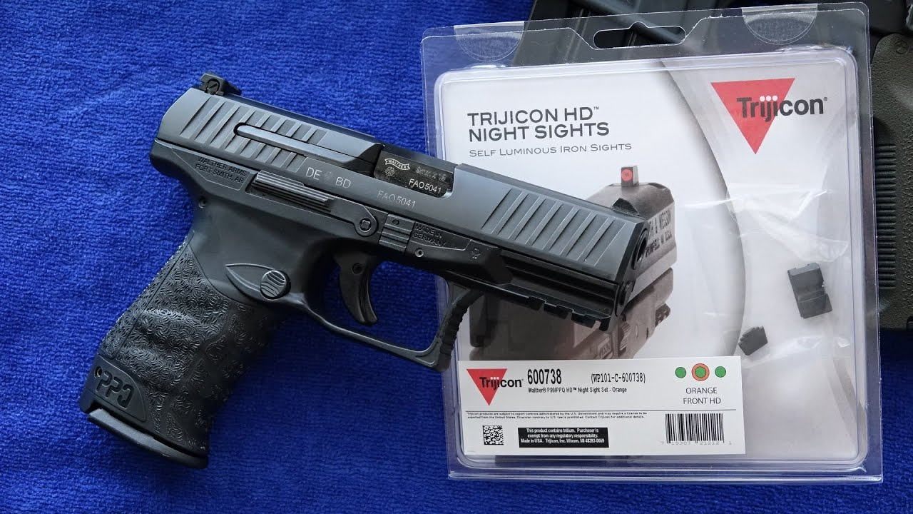 Walther PPQ Trijicon HD Night Sights Installation