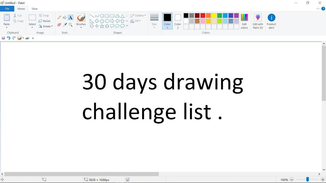 30 Day Drawing Challenge In Ms Paint Or On Paper Drawing