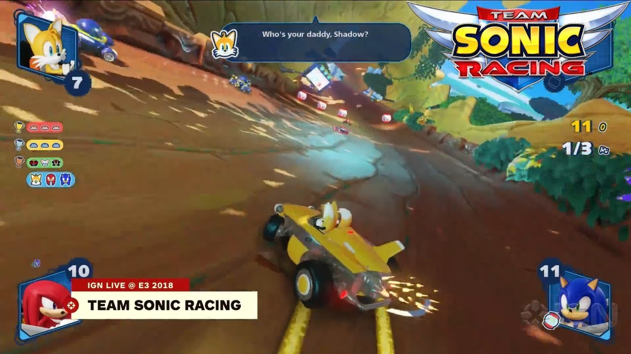 Team Sonic Racing - Tails' Taunts!