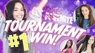 GIRL SQUAD. LadiesNite Tournament Win! - Valkyrae Fortnite