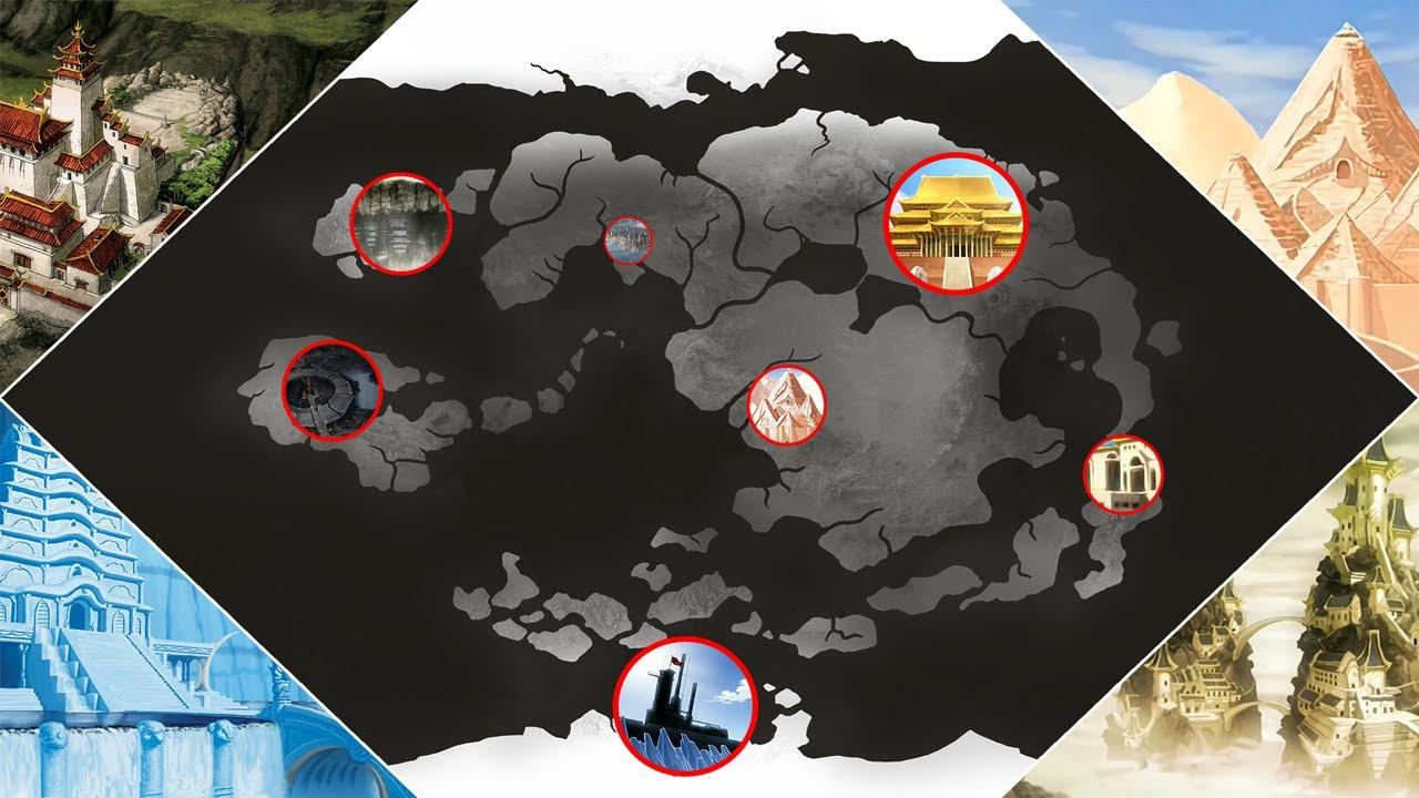 Die Gesamte Welt Von Avatar Geografisch Erklärt Avatar Der Herr Der Elemente Youtube