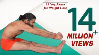 वजन और मोटापा कम करने के लिए 12 योगासन | स्वामी रामदेव