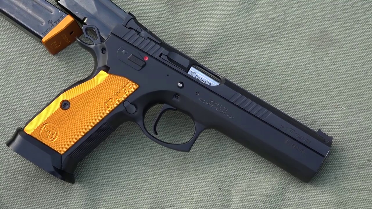 Shooting the CZ 75 Tactical Sports Orange