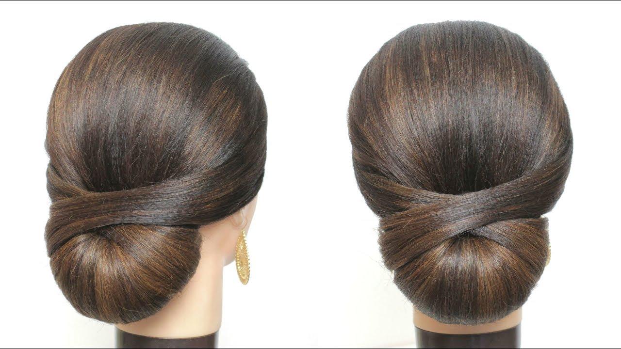 elegant bridal updo. wedding hairstyle for long hair. low bun