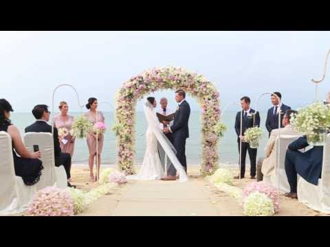 Paul and Eleanor - Koh Samui Wedding - Ceremony Miskawaan | Luxury Beachfront Villas