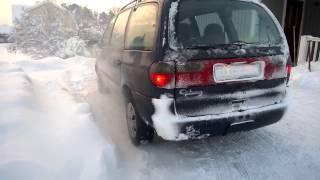 Форд Галакси 1.9TDI холодный старт зима минус 20 Швеция Ford Galaxy 1.9 tdi cold start -20 Sweden(, 2016-12-10T15:56:11.000Z)