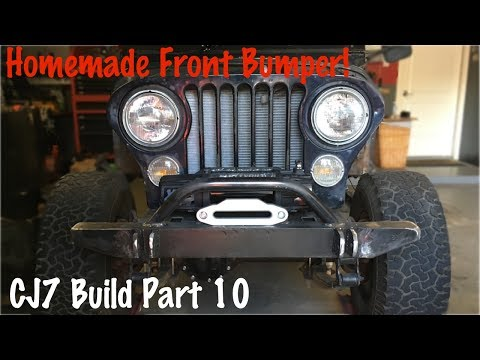 Front Offroad Bumper and Winch Plate | Jeep CJ7 Build Part 10