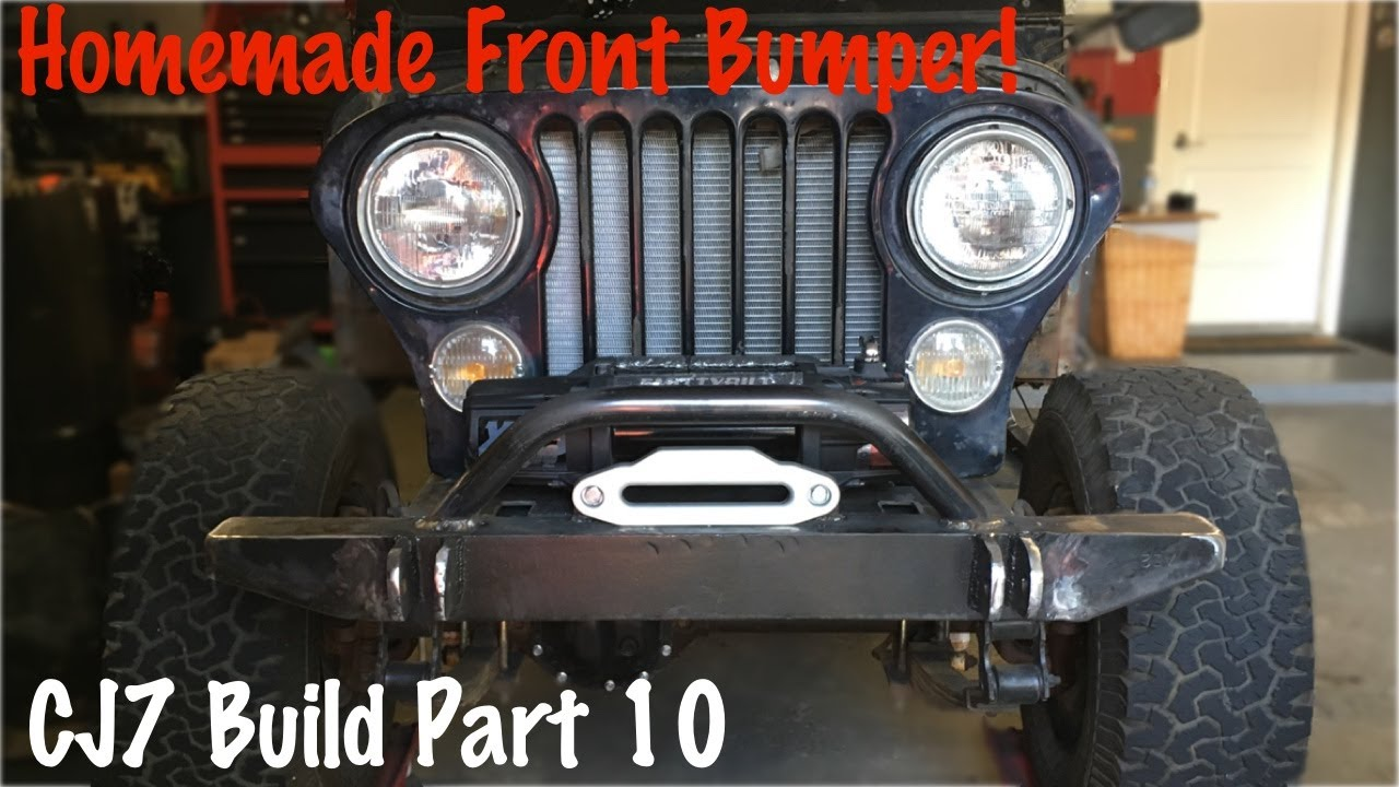 medium resolution of front offroad bumper and winch plate jeep cj7 build part 10
