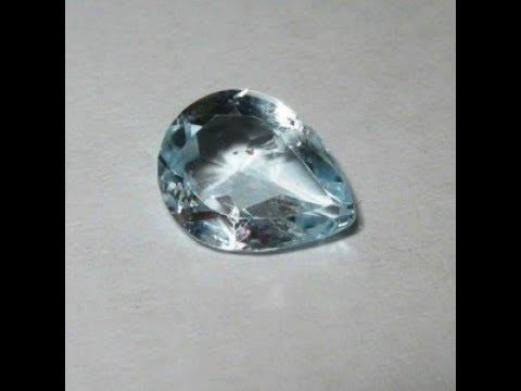 Batu Topaz Terang Bentuk Tetes Air (Pear Shape) 1.60 Carat