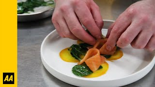 Valentines Day Dinner: Smoked Salmon And Beetroot Ravioli Starter - The Aa
