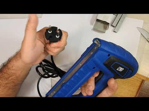Мощный и качественный электростеплер PROSTORMER PLD6033 под скобы и гвозди за $24.00 с Aliexpress
