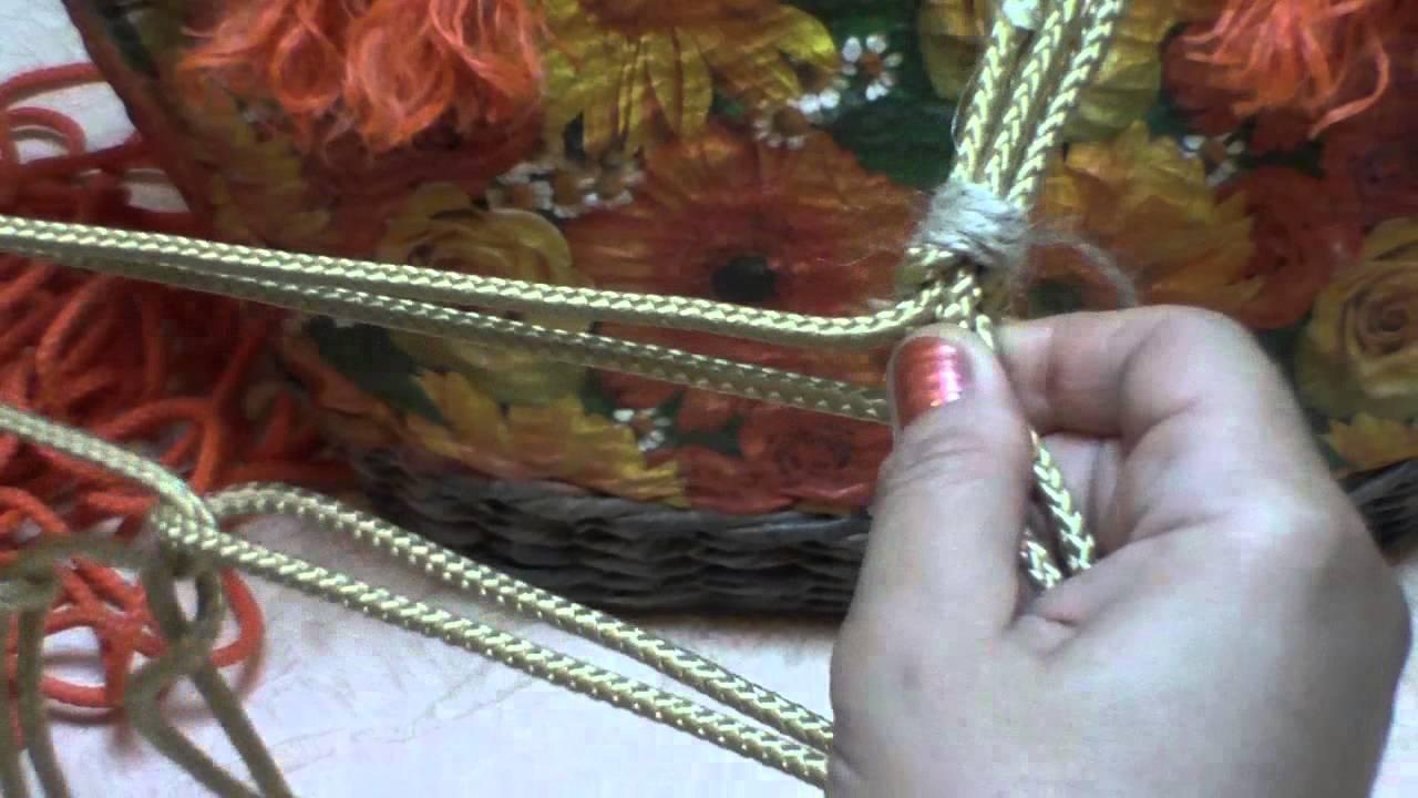Плетеные ручки для сумки своими руками