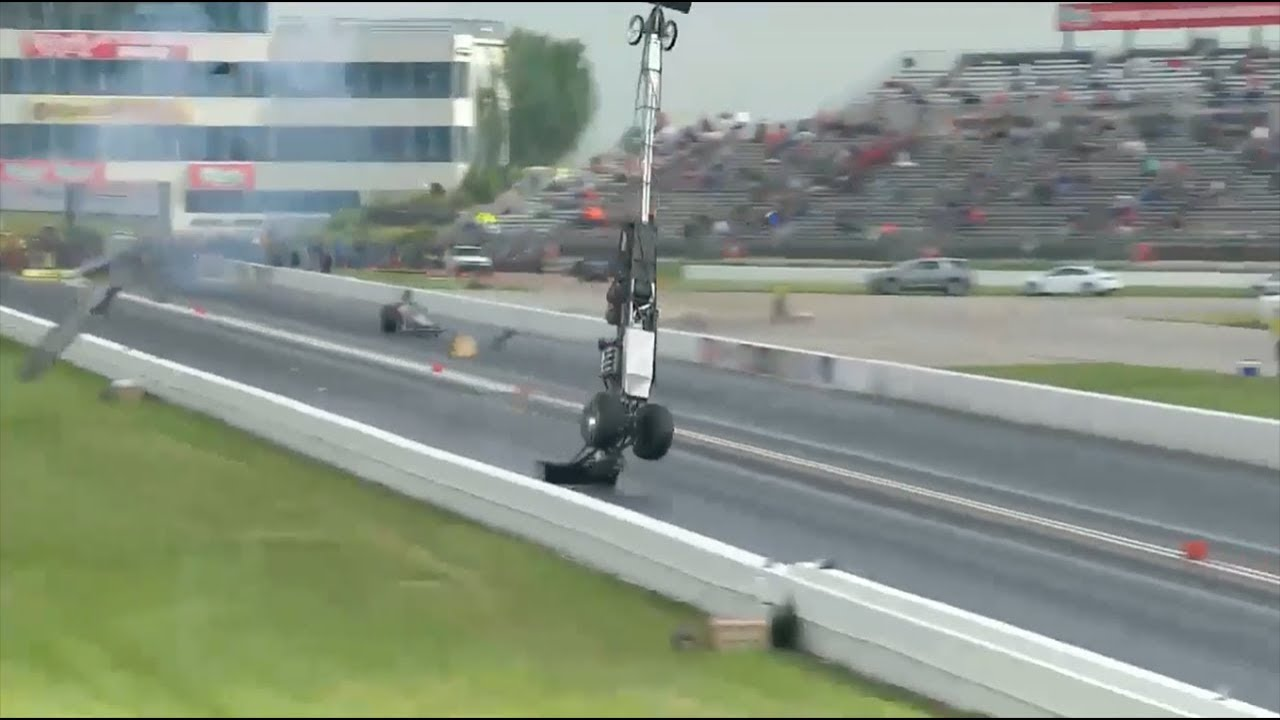 Top Alcohol Dragster Blowover from Steve Collier in Topeka