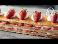 Strawberry Mille-Feuille | ASMR Cooking sounds