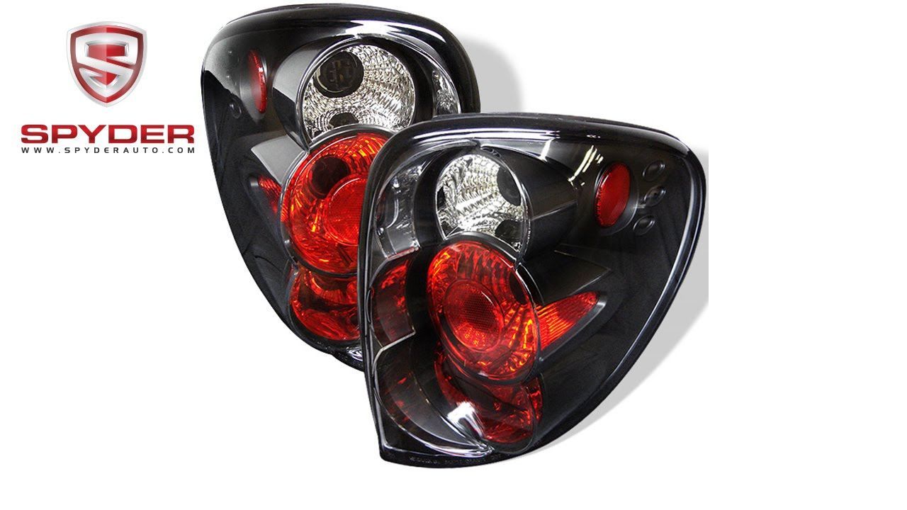 Spyder Dodge Caravan Grand Caravan 01 07 Euro Style Tail Lights Black Youtube