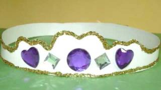 How to make crown or tiara for your little Princess - EP - simplekidscrafts