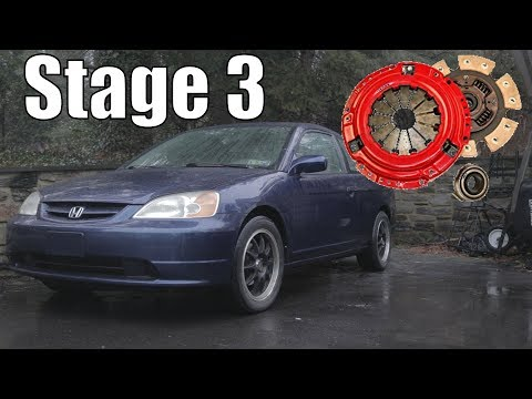Civic Coupe EX (D17) Stage 3 Yonaka 6 Puck Clutch Install [Full Length]
